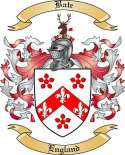 Bate Family Crest from England