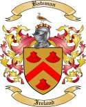 Bateman Family Coat of Arms from Ireland