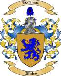 Bateman Family Coat of Arms from Wales