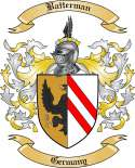 Batterman Family Coat of Arms from Germany
