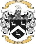 Battie Family Crest from England