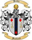 Battie Family Crest from Scotland