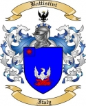Battistini Family Crest from Italy
