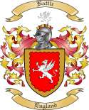 Battle Family Coat of Arms from England