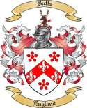 Batts Family Crest from England