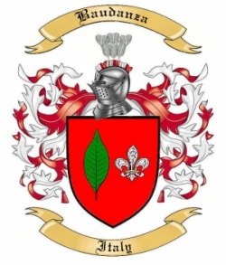 Baudanza Family Crest from Italy