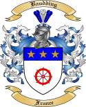 Baudding Family Coat of Arms from France