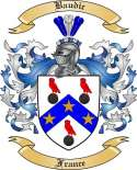 Baudic Family Crest from France