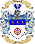 Baudin Family Crest from France
