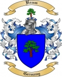 Baum Family Crest from Germany2