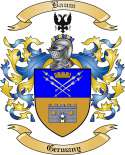 Baum Family Crest from Germany