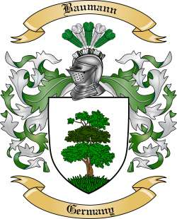 Baumann Family Crest from Germany