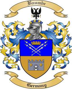 Baumbe Family Coat of Arms from Germany