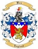 Bax Family Crest from England