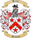 Baxter Family Crest from Scotland
