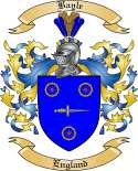 Bayle Family Coat of Arms from England