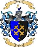 Baylie Family Coat of Arms from England