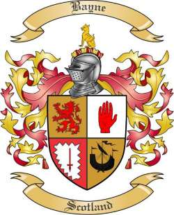 Bayne Family Coat of Arms from Scotland