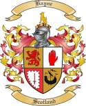 Bayne Family Crest from Scotland