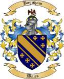 Baynham Family Crest from Wales