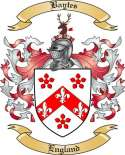Baytes Family Crest from England