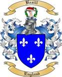 Bazill Family Crest from England