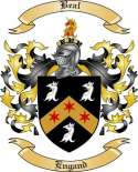 Beal Family Crest from England