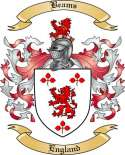 Beams Family Coat of Arms from England