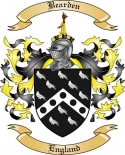 Bearden Family Crest from England