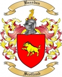 Bearden Family Crest from Scotland
