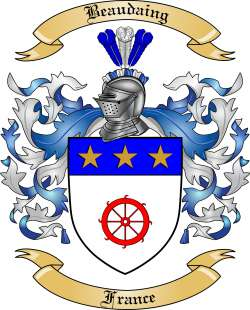 Beaudaing Family Crest from France