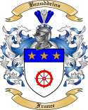 Beauddeins Family Crest from France