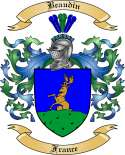 Beaudin Family Coat of Arms from France2