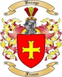 Beauge Family Crest from France