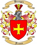 Beaugez Family Crest from France