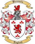 Beaumeis Family Crest from England
