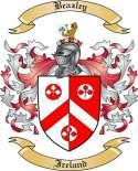 Beazley Family Crest from Ireland