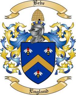 Bebe Family Crest from England
