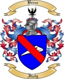 Becce Family Crest from Itlay