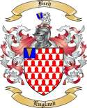 Bech Family Crest from England