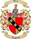 Bees Family Coat of Arms from England
