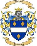 Beethe Family Crest from Germany