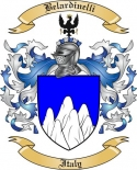 Belardinelli Family Crest from Italy