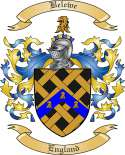 Belewe Family Crest from England