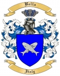 Bella Family Crest from Italy