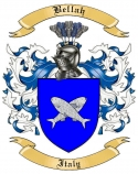 Bellah Family Crest from Italy