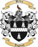 Belles Family Crest from England