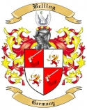 Belling Family Crest from Germany