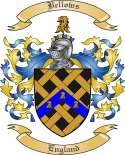 Bellows Family Crest from England