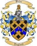 Beloe Family Crest from England